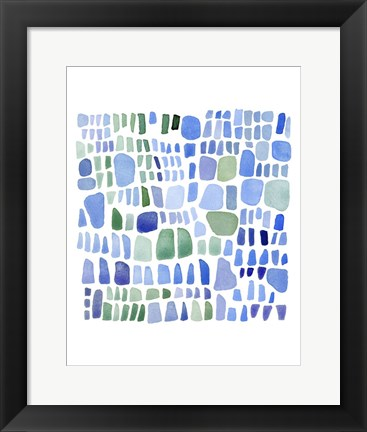 Framed Series Sea Glass No. IV Print
