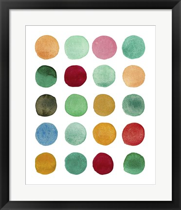 Framed Series Colored Dots No. I Print