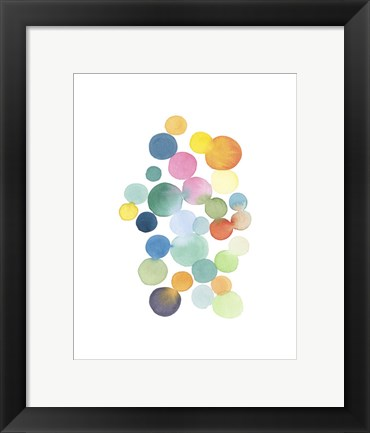 Framed Series Colored Dots No. III Print