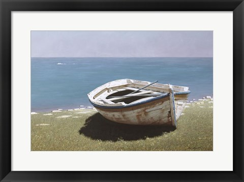Framed Weathered Boat Print