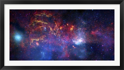 Framed central Region of the Milky Way Galaxy Print