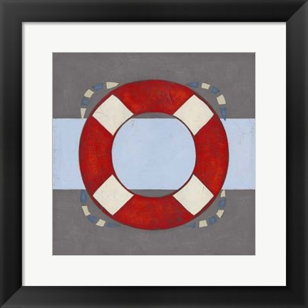 Framed Nautical Graphic II Print