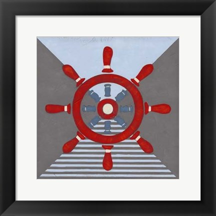 Framed Nautical Graphic IV Print