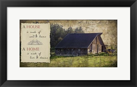 Framed Widby's Sentiments II Print
