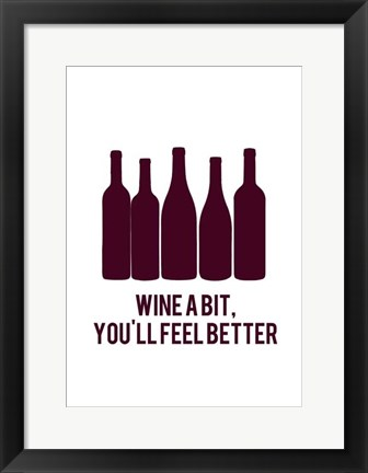 Framed Wine Sentiment I Print