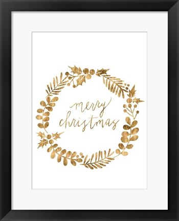 Framed Golden Christmas III Print