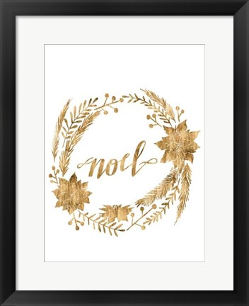 Framed Golden Christmas IV Print