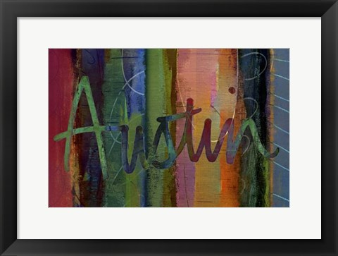 Framed Abstract Austin Print