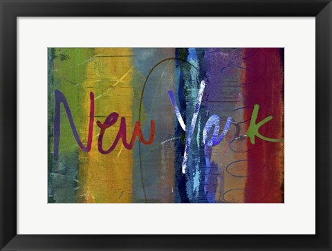 Framed Abstract New York Print