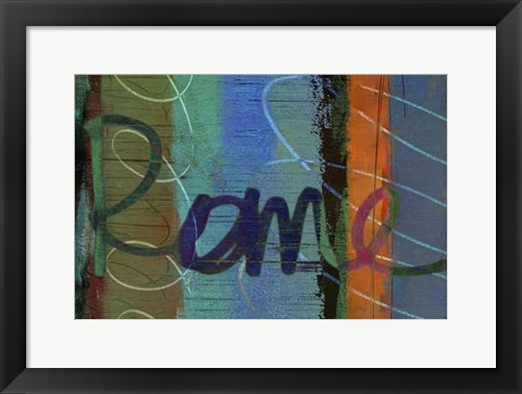 Framed Abstract Rome Print