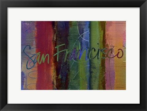 Framed Abstract San Francisco Print