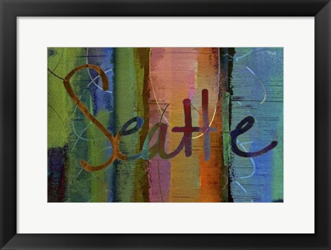Framed Abstract Seattle Print