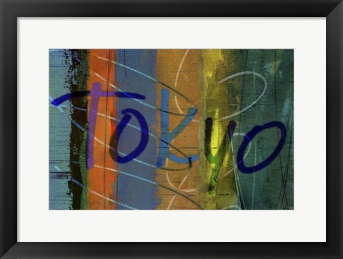 Framed Abstract Tokyo Print