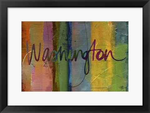 Framed Abstract Washington Print