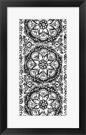 Framed B&W Arabesque Panels IV Print
