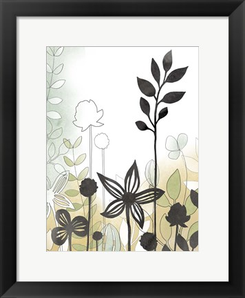 Framed Sketchbook Garden II Print