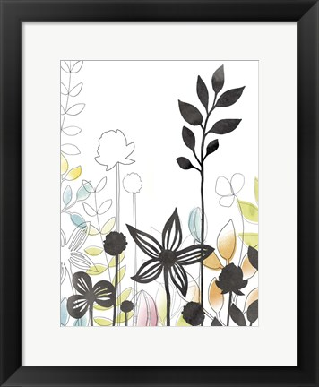 Framed Sketchbook Garden IV Print