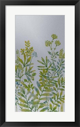 Framed Pattern of Leaves IV Print