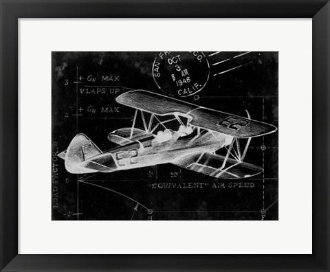 Framed Flight Schematic I Print