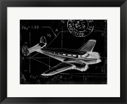 Framed Flight Schematic IV Print