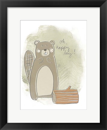 Framed Woodland Whimsy III Print