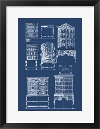 Framed Furniture Blueprint II Print