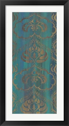 Framed Blue Arabesque II Print