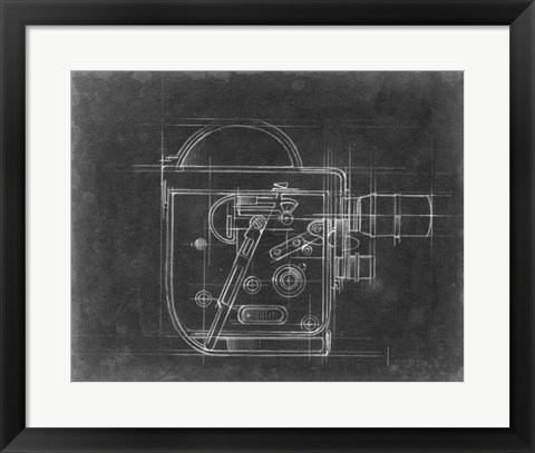 Framed Camera Blueprints III Print