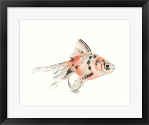 Framed Watercolor Tropical Fish I Print