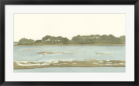 Framed Spa Coastline II Print