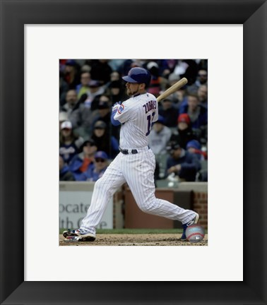 Framed Ben Zobrist 2016 Action Print