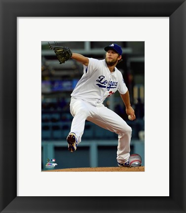 Framed Clayton Kershaw 2016 Action Print