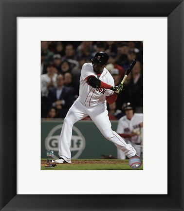Framed David Ortiz 2016 Action Print