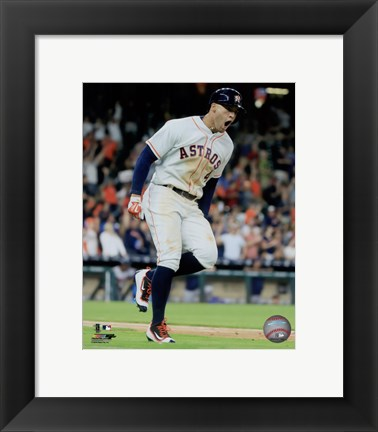 Framed George Springer 2016 Action Print