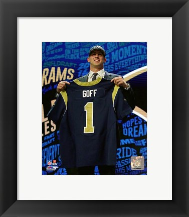 Framed Jared Goff 2016 NFL Draft #1 Draft Pick Print