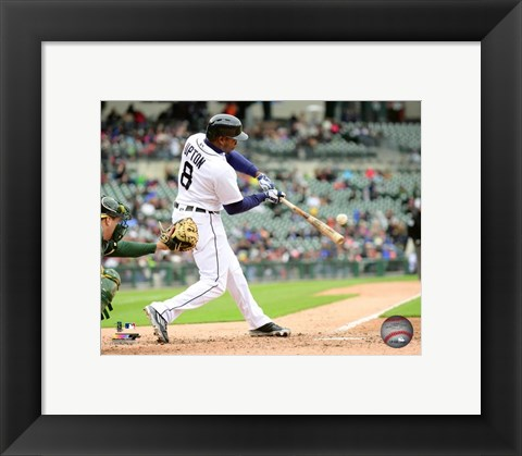Framed Justin Upton 2016 Action Print