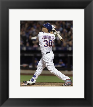 Framed Michael Conforto 2016 Action Print