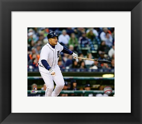 Framed Miguel Cabrera 2016 Action Print