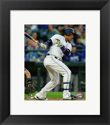 Framed Robinson Cano 2016 Action Print