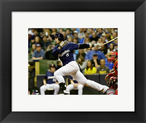 Framed Ryan Braun 2016 Action Print