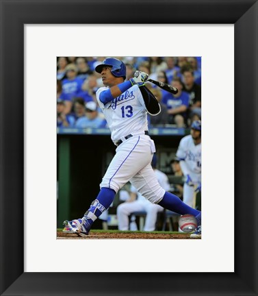 Framed Salvador Perez 2016 Action Print