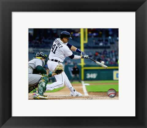Framed Victor Martinez 2016 Action Print