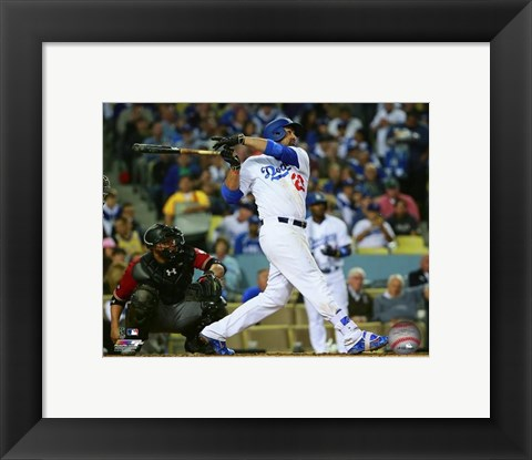 Framed Adrian Gonzalez 2016 Action Print
