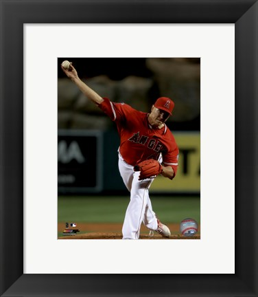 Framed Garrett Richards 2016 Action Print
