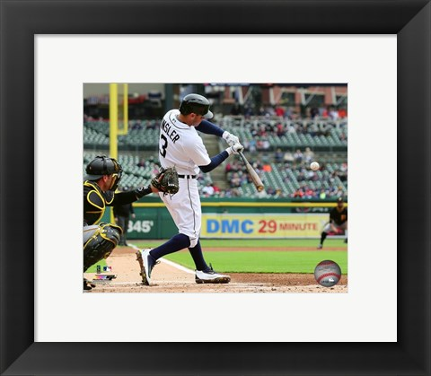 Framed Ian Kinsler 2016 Action Print
