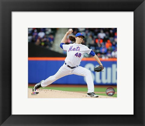 Framed Jacob deGrom 2016 Action Print