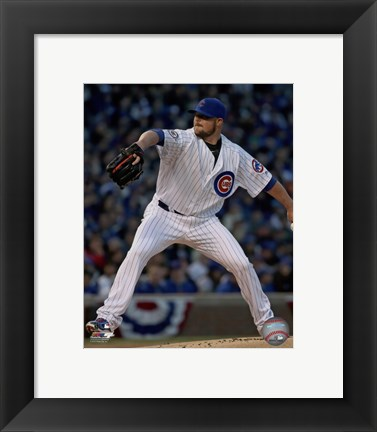 Framed Jon Lester 2016 Action Print