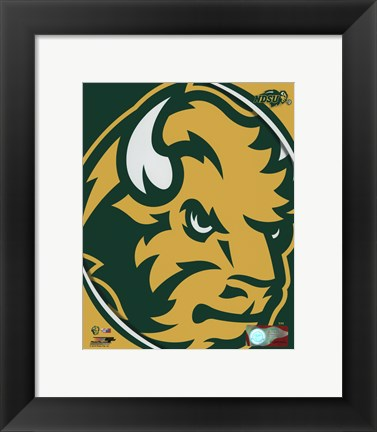 Framed North Dakota State Bison 2016 Logo Print