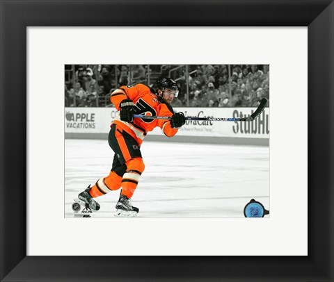 Framed Shayne Gostisbehere 2015-16 Spotlight Action Print