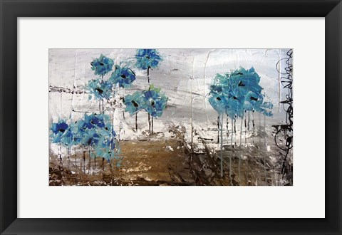 Framed Floralies du Blues Print